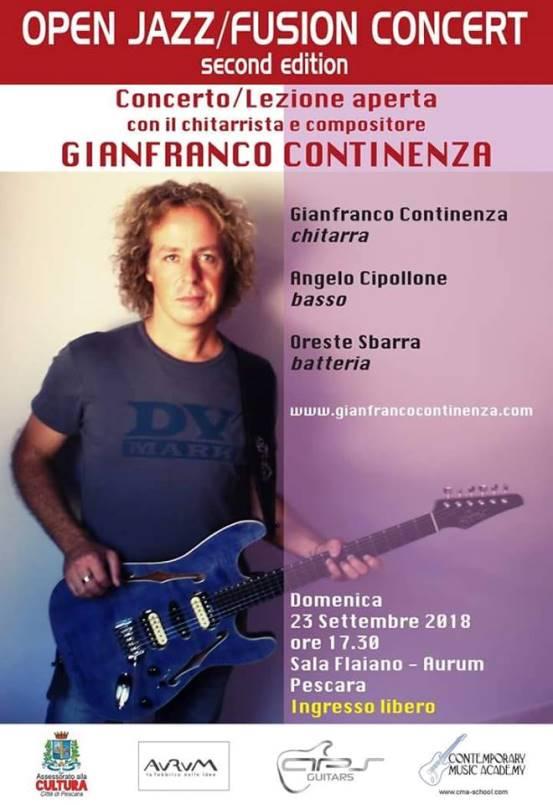 Domenica 23 settembre Gianfranco Continenza