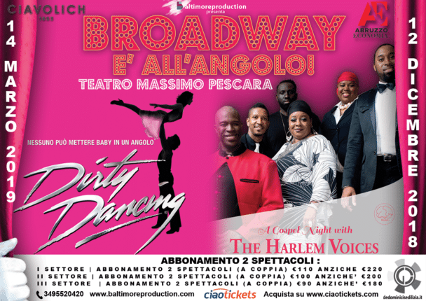 La mini stagione 'Broadway è all'angolo' al Teatro Massimo