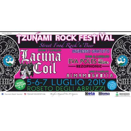 Torna lo Tzunami rock Festival locandina