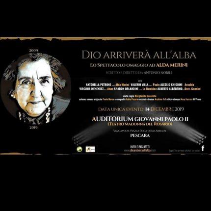 Alda Merini a Pescara: Dio arriverà all'alba